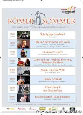 Boppard am Rhein - Römersommer – Literatur, Theater, Musik & Wein im Römerkastell Boppard vom 13. – 22.08. › Von Mittelrhein-Tageblatt Redaktion - Mittelrhein Tageblatt