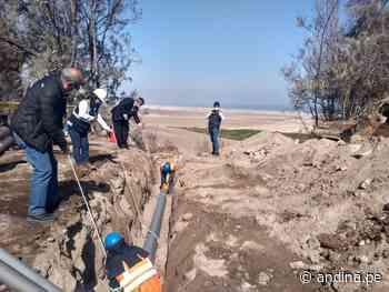 Moquegua: renovarán tubería de agua potable de más de 25 años de antigüedad en Ilo - Agencia Andina