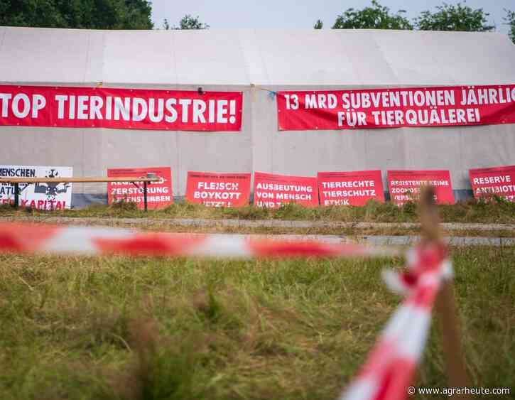 Protestcamp Vechta: Diskutieren ja, aber nicht mit den Aktivisten - agrarheute.com