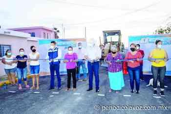 Inauguran pavimento en la Chinameca - Periódico La Voz