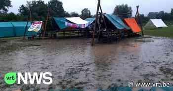 Kamp van scouts uit Kalmthout in Namen geëvacueerd door de regen, en de waterellende is nog niet voorbij - VRT NWS