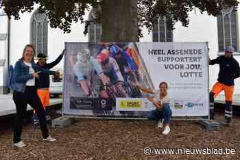 Heel Assenede supportert voor wielerkampioene Lotte Kopecky:... (Assenede) - Het Nieuwsblad