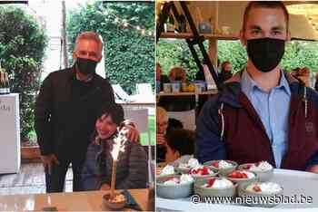 Schlagerkoning Christoff trakteert Zonnestraal op drankjes en ijsjes<BR />