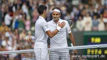 """Wimbledon: Roger Federer gratuliert Novak Djokovic zum Grand-Slam-Rekord - """"Wundervolle Leistung"""" - Eurosport DE"""