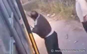 Vídeo: Motorista de empresa concorrente depreda ônibus em Campos dos Goytacazes - REVISTA DO ÔNIBUS