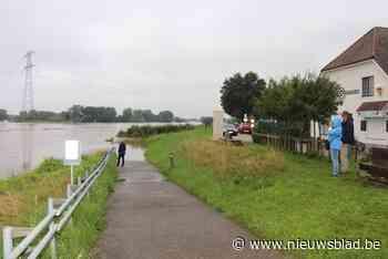 Maasdijk afgesloten in Kinrooi (Kinrooi) - Het Nieuwsblad