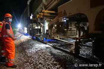 En images - Sur les voies du RER D qui mène à Malesherbes, des travaux nocturnes via un impressionnant train-usine - La République du Centre