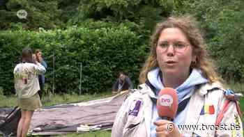 Scouts Sint-Gillis-Waas vieren laatste kampdag terug in eigen gemeente - TV Oost