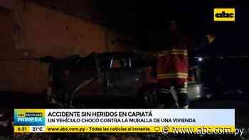 Vehículo chocó contra la muralla de una vivienda en Capiatá - ABC Noticias - ABC Color