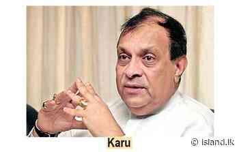 Karu advocates unity in adversity – The Island - island.lk