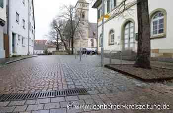 Porphyr in Eltingen - Jetzt wird Betonpflaster verlegt - Leonberger Kreiszeitung