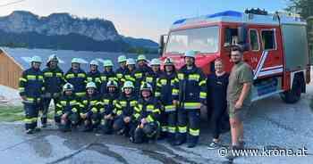 Mit Tieren geschult - Feuerwehr Gotschuchen übt am Reiterhof Ragnarök - Kronen Zeitung