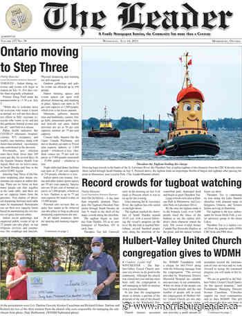 This week's headlines in The Leader – July 14, 2021 - The Morrisburg Leader