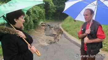 Route effondrée à Belleu, près de Soissons : l'impasse pour les riverains - L'Union