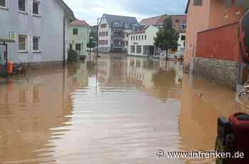 """Reichenberg: """"Diesmal war es schlimmer"""" - Hochwasser flutet Ort zwei Mal innerhalb einer Woche"""
