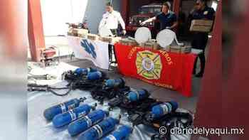 Bomberos de Huatabampo recibe equipo y ambulancia - Diario del Yaqui
