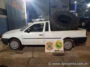 BPFron e Nepom apreendem pneus de maquinário agrícola contrabandeados em Santa Helena - O Presente