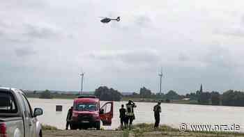 Großeinsatz am Rhein in Rees mit Hubschrauber und Booten - NRZ