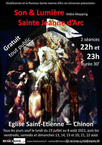 Son et Lumière « Jeanne d'Arc » Eglise Saint-Etienne vendredi 23 juillet 2021 - Unidivers