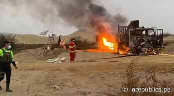 La Libertad: queman maquinaria que ejecuta obra en Chepén - LaRepública.pe
