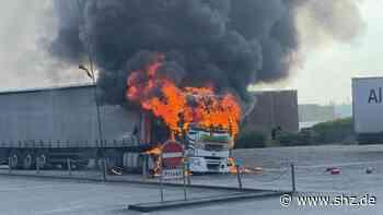 Pattburg: Kurz hinter der Grenze bei Harrislee: Lkw in Flammen | shz.de - shz.de