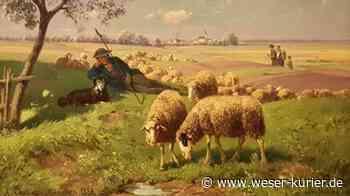 Bild des Monats in der Kunstschau Lilienthal: Schäfer mit seiner Herde - WESER-KURIER - WESER-KURIER