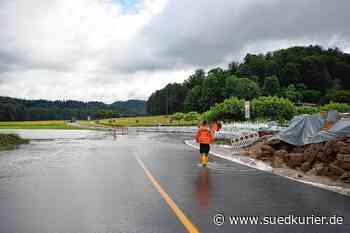 Hochwasser und Hangrutsch-Gefahr: L 194 ist an zwei Stellen zwischen ... | SÜDKURIER Online - SÜDKURIER Online
