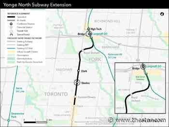 Clark Avenue in Thornhill picked as site of fourth stop on Yonge subway extension - Toronto Star
