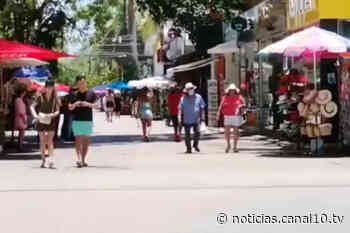 Sargazo no espanta a turistas en Playa del Carmen - Canal 10