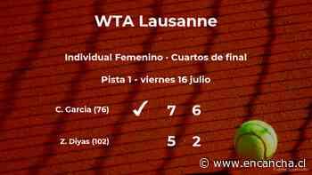 La tenista Caroline Garcia logra clasificarse para las semifinales a costa de Zarina Diyas - EnCancha.cl