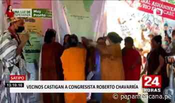 Satipo: aplican castigo a congresista Roberto Chavarría - Panamericana Televisión