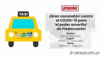 Hoy vacunarán taxistas en Bucaramanga y Piedecuesta - Caracol Radio