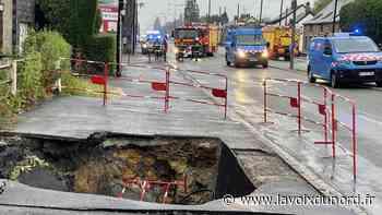 Maubeuge: la chaussée s'effondre, une partie de la rue Jean-Jaurès coupée à la circulation - La Voix du Nord