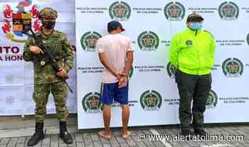 Capturaron a alias 'Gustavo' integrante de 'Los Tastis' en Lérida - Alerta Tolima