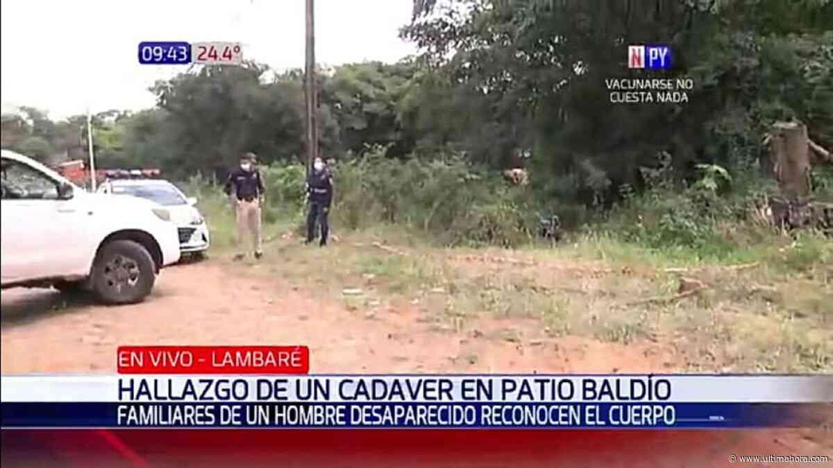 Encuentran un cuerpo sin vida en un terreno baldío en Lambaré - ÚltimaHora.com