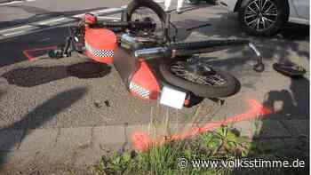 Unfall in Haldensleben: 19-jährige Mopedfahrerin verletzt - Volksstimme