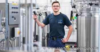 Jannis Kraß arbeitet als Brauer bei Karlsberg in Homburg - Saarbrücker Zeitung