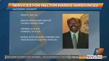 Services for Jackson County Supervisor Melton Harris announced - WXXV News 25