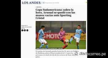 Sporting Cristal hace noticia en Argentina tras vencer a Arsenal (FOTOS) - Diario Correo