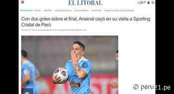 Así informaron en Argentina sobre el triunfo de Cristal y caída de Arsenal [FOTOS] - Diario Perú21