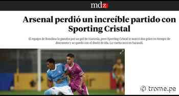Cristal venció sobre la hora a Arsenal y hubo repercusión en Argentina [FOTOS] - Diario Trome
