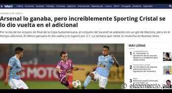 """""""Increíblemente se lo dio vuelta"""": en Argentina lamentan la caída de Arsenal ante Cristal   FOTOS - El Comercio Perú"""