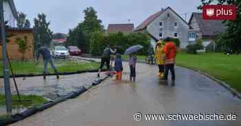 Wasser bedroht Häuser in Ostrach   schwäbische - Schwäbische