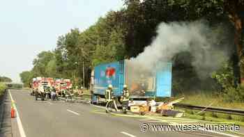 Stau auf der A27: LKW brennt bei Achim komplett aus - WESER-KURIER - WESER-KURIER