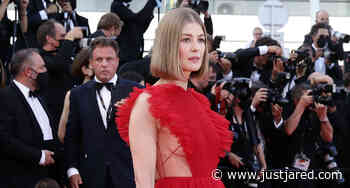 Rosamund Pike Walks First-Ever Cannes Red Carpet at the 2021 Closing Ceremony! - Just Jared