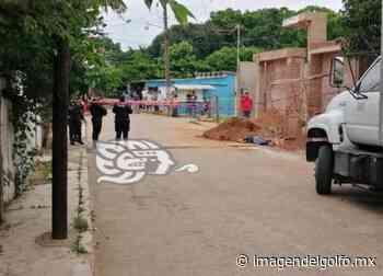 En Chinameca, ejecutan a albañil frente a obra - Imagen del Golfo