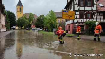 Unwetter erwartet - Überschwemmung in Karlsbad - t-online - Stuttgart