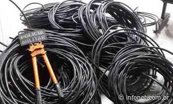 PM recupera cabos de fibra óptica furtados em povoado de Itabaiana - Infonet