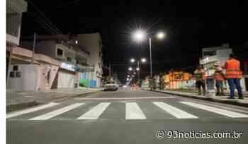 Itabaiana: Avenida Manoel Francisco Teles recebe sinalização horizontal - 93Notícias