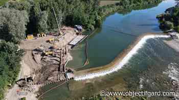 REMOULINS Travaux sur le barrage : les poissons migrateurs pourront bientôt remonter le Gardon - Objectif Gard